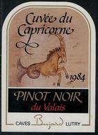 """Etiquette De Vin // Pinot Noir Du Valais, Signe Du Zodiac """"Le Capricorne"""" - Sin Clasificación"""