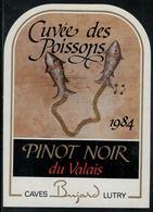 """Etiquette De Vin // Pinot Noir Du Valais, Signe Du Zodiac """"Les Poissons"""" - Sin Clasificación"""