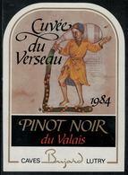 """Etiquette De Vin // Pinot Noir Du Valais, Signe Du Zodiac """"Le Verseau"""" - Sin Clasificación"""