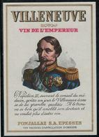 Etiquette De Vin // Villeneuve, Vin De L'Empereur - Emperors, Kings, Queens And Princes