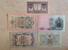 Lot De 5 Billets Russes - Russia