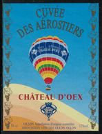 Etiquette De Vin // Ollon,Cuvée Des Aérostiers - Mongolfiere