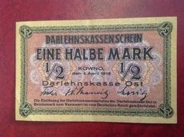 Billet Eine Halbe Mark 1918 - [ 2] 1871-1918 : Impero Tedesco