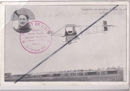 Aviation;Legageur Sur Aéroplane Sommer En Vol à Lyon (69) Circuit De L'Est 7-18 Août 1910 - Aviateurs