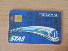 France - Télécarte STAS (Transports St Etienne) F199 50U - 77 000 Ex - Utilisée - GEM - Bon état - France