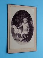 Garçon / Jongen / Boy ( SPEELGOED Paard / Cheval Jouets ) - ( CABINET Photo Alphonse VERCAUTEREN > TEMSCHE ) ! - Personnes Anonymes