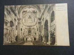 19915) ALESSANDRIA CHIESA ALESSANDRO III INTERNO VIAGGIATA 1908 NON COMUNE - Alessandria