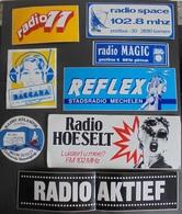 144 Stickers Autocollants RADIO - Autocollants