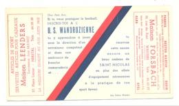 BUVARD Publicitaire Pour L'inscription Au Club De L' U.S. Wandruzienne- Football  - Wandre, Herstal, Liège, Sport (b253) - Sports