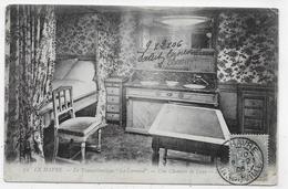 """LE HAVRE EN 1906 - N° 72 - PAQUEBOT TRANSATLANTIQUE """" LA LORRAINE """" - UNE CHAMBRE DE LUXE - BEAU CACHET - CPA  VOYAGEE - Paquebots"""