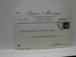 PORTO TORRES  -- SASSARI  -- PEPPINO  MARONGIU  -- TRASPORTI - Sassari