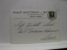 PORTO TORRES  -- SASSARI  -- ANTONIO PIGA  DI BAINGIO -COMMERCIANTE - Sassari