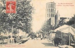 CPA 31 Haute Garonne Verfeil Les Allées Frascati Allée Marché Clocher - Verfeil