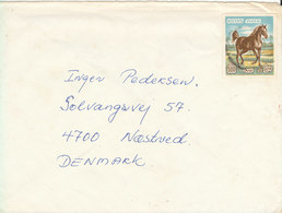 Egypt Cover Sent To Denmark Single Franked HORSE (the Flap On The Backside Of The Cover Is Missing) - Egypt