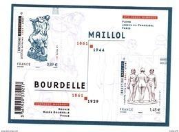 Bloc Maillol, N° 4626 Et 4627, Neuf - Mint/Hinged
