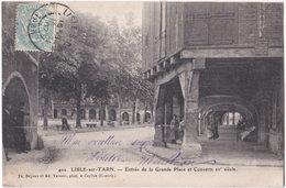81. LISLE-SUR-TARN. Entrée De La Grand Place Et Couverts. 402 - Lisle Sur Tarn
