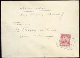 07496 Ungarn Brief Bahnpost Rail Nemesszalok 1908 - Briefe U. Dokumente