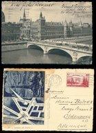 15804 Frankreich AK Paris + Bild Leuchtturm Hotel Delft -  Oldenburg 1939 , Bedarfserhaltung. - Frankreich
