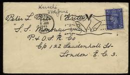 S4765 - England Briefumschlag Militär: Gebraucht Mit Victory Glocken Stempel - Schiff S.S. Monowai 6.6.1945, Bedarfser - 1902-1951 (Kings)