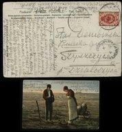 S4881 Russland Polen Postkarte , AK Erntedank: Gebraucht Warschau 1907 , Bedarfserhaltung. - ....-1919 Übergangsregierung
