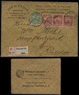 S6539 - Ungarn MiF Auf Firmen R - Briefumschlag : Gebraucht Budapest - Raschau 1907 , Bedarfserhaltung. - Briefe U. Dokumente
