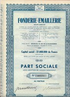 Fonderie-Emaillerie SA - Actions & Titres