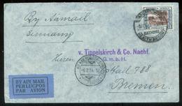 17800 SW Afrika Namibia Luftpost Brief Windhuk - Kimberley , Swakopmund - Bremen 1934, Bedarferhaltung. - Südwestafrika (1923-1990)