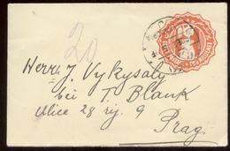 18721 Fr. Kolonien Ägypten GS Umschlag Alexandria - Prag 1915 , Bedarfserhaltung. - Alexandria (1899-1931)
