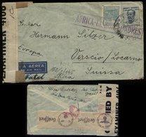 S4902 Brasilien Luftpost Briefumschlag Mit Zensuren: Gebraucht Sao Poulo über Afrika Natal . Lissabon - London - Versc - Brasilien