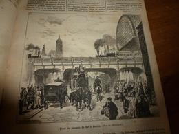 1882 JDV:Les Rues à BERLIN ; Les Réserves Du Roi D'Orango Viennent Des Pillages Des Navires ;Dépt De Seine Et Oise;etc - Kranten