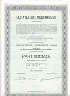 Les Ateliers Mécaniques SA à Morlanwez-Mariemont (Les Hayettes) - Actions & Titres
