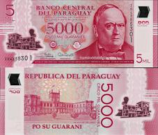 Paraguay 2017 - 5000 Guaranies - Pick 234 UNC Polymer - Paraguay