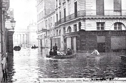 INONDATIONS -  RUE DE BOURGOGNE    Bb-959 - Paris Flood, 1910