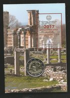 Greece, 2017, Archaeological Site Of Philippi, 2 Euro In Coin Card - Grecia