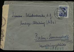 S5505 - Deutsche Besetzung Serbien Briefumschlag Mit OKW Zensur:gebraucht Bor - Berlin Siemensstadt 1942, Bedarfserhal - Besetzungen 1938-45