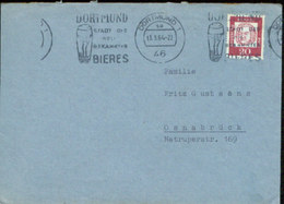 08876 BRD Brief Werbestempel  Bier Dortmund 1964 - Biere