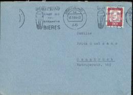 08876 BRD Brief Werbestempel  Bier Dortmund 1964 - Beers