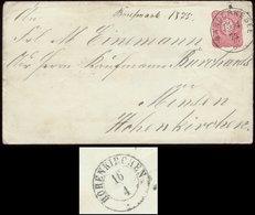 19480 DR Oldenburg GS Brief U 7A Mit Schilling Stempel Ganderkesee - Minsen  ,Hohenkirchen Oldenburg Type Nachverwendu - Oldenburg