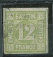 Bayern Nr. 12 Mühlradstempel  80 Euro Michel - Bayern