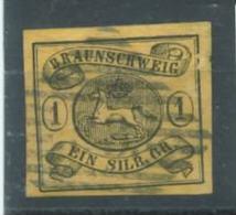 Braunschweig Nr. 6b Gestempelt ,Nummer Stempel 33 Oker. - Brunswick