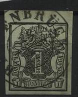 Hannover Nr.2 Oberrand , Leicht Hannoverhell: Gebraucht Bersenbrück,8 Euro Michel. - Hannover