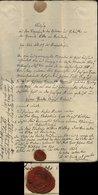 S6912 - Braunschweig Brief Papiergeld Und Siegel: Gebraucht Braunschweig 1847, Bedarfserhaltung Mit Inhalt. - Braunschweig