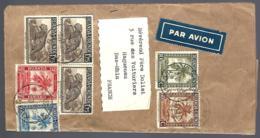 LETTRE PAR AVION EN PROVENANCE DE GITEGA - 1948 - POUR HAGUENAU BAS-RHIN - ALSACE - Ruanda-Urundi