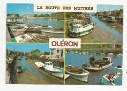 Cp,métier , Pêche ,pêcheurs , Multi Vues , La Route Des Huitres ,  17 ,  ILE D'OLERON ,  Voyagée ,  Bateaux - Pesca