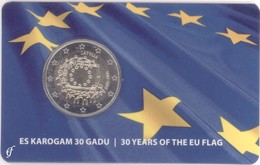 Latvija, Flag, 2015, 2 Euro, Coin Card - Latvia