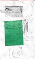 Dos D'enveloppe Avec Affranchissement Machine, Déclaration En Douane Et Copie De La CI De L'expéditeur - Pérou