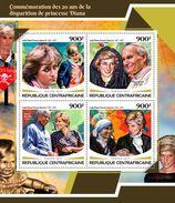 CENTRAL AFRICA 2017 - Diana, Mother Teresa - YT 5229-32; CV=20 € - Mother Teresa