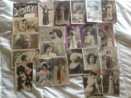 Artiste Femme 1900 Cabaret, Lot De 22 Cartes - Frauen