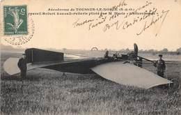 78-TOUSSUS-LE-NOBLE- AERODROME- APPAREIL ROBERT ESNAULT-PELLERIE PILOTE PAR M. MARIE L'ATTERISSAGE - Toussus Le Noble