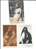 11198 - Lot De 3 CPA D'AFRIQUE, Femmes, Dont Une Seins Nus, - North Africa